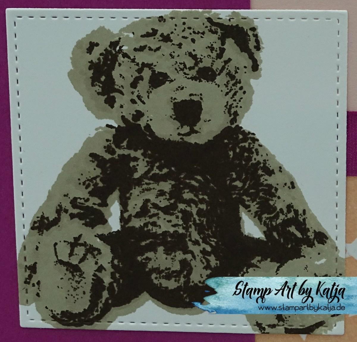 Süße Geburtstagskarte ganz in Rosa