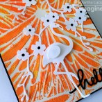 Texture in hand made cards