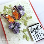 Textured Card with Paper Flowers