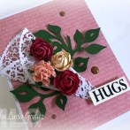 Card with paper doily