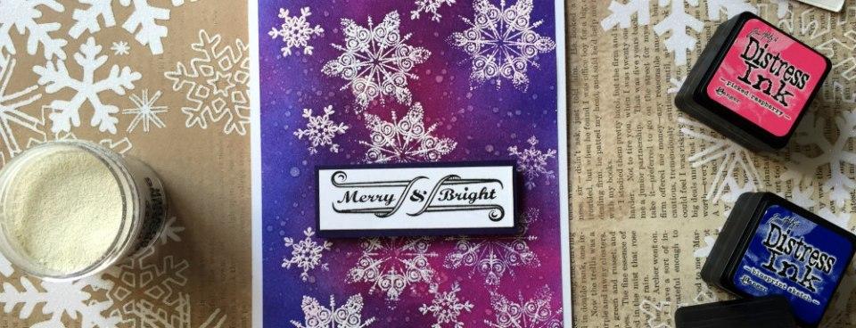 Merry & Bright Emboss Resist Technique