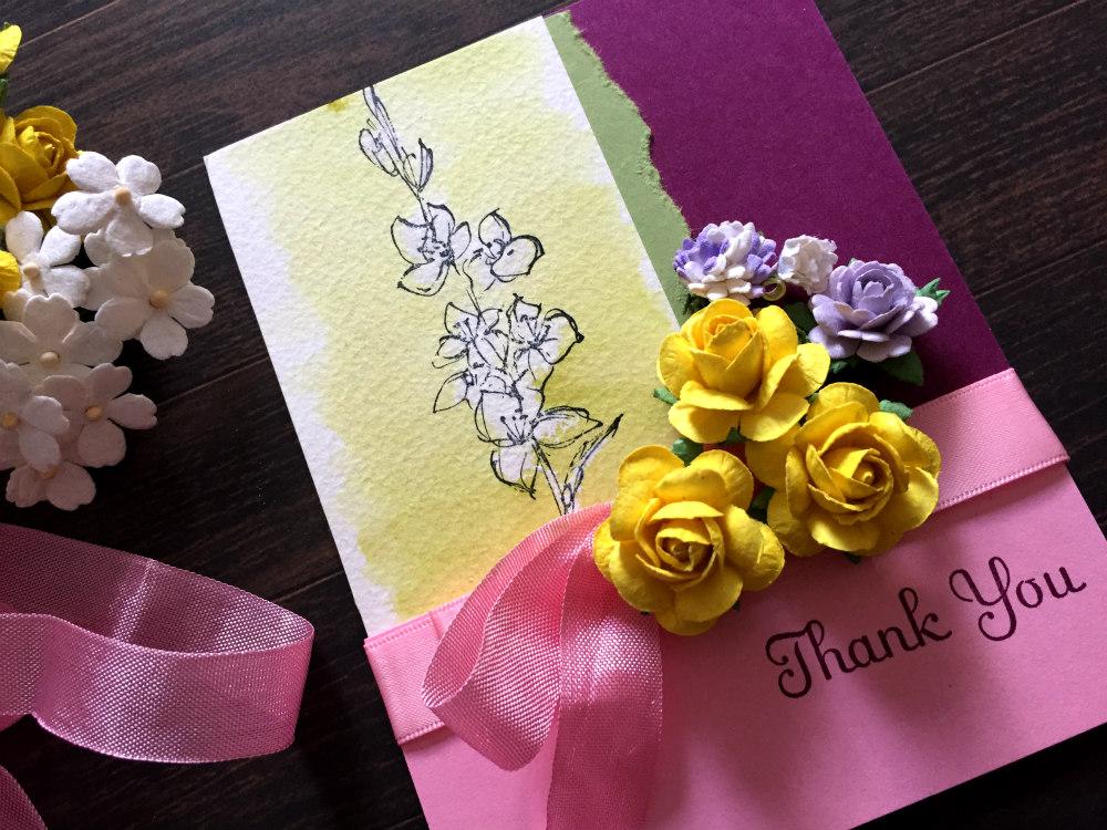 Thank you card with Secret Garden