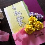 Thank you card with Secret Garden