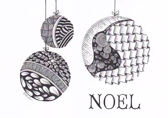 Zentangle Inspired Christmas Card For The Love Of Rubber Art