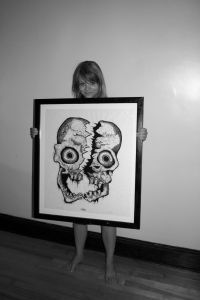 Shawna with Cleaved Skull