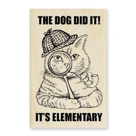 Sherlock Cat Stamp