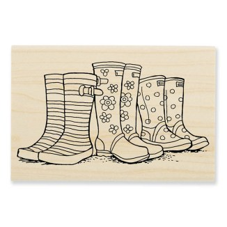 P300 Puddle Boots Rubber Stamp