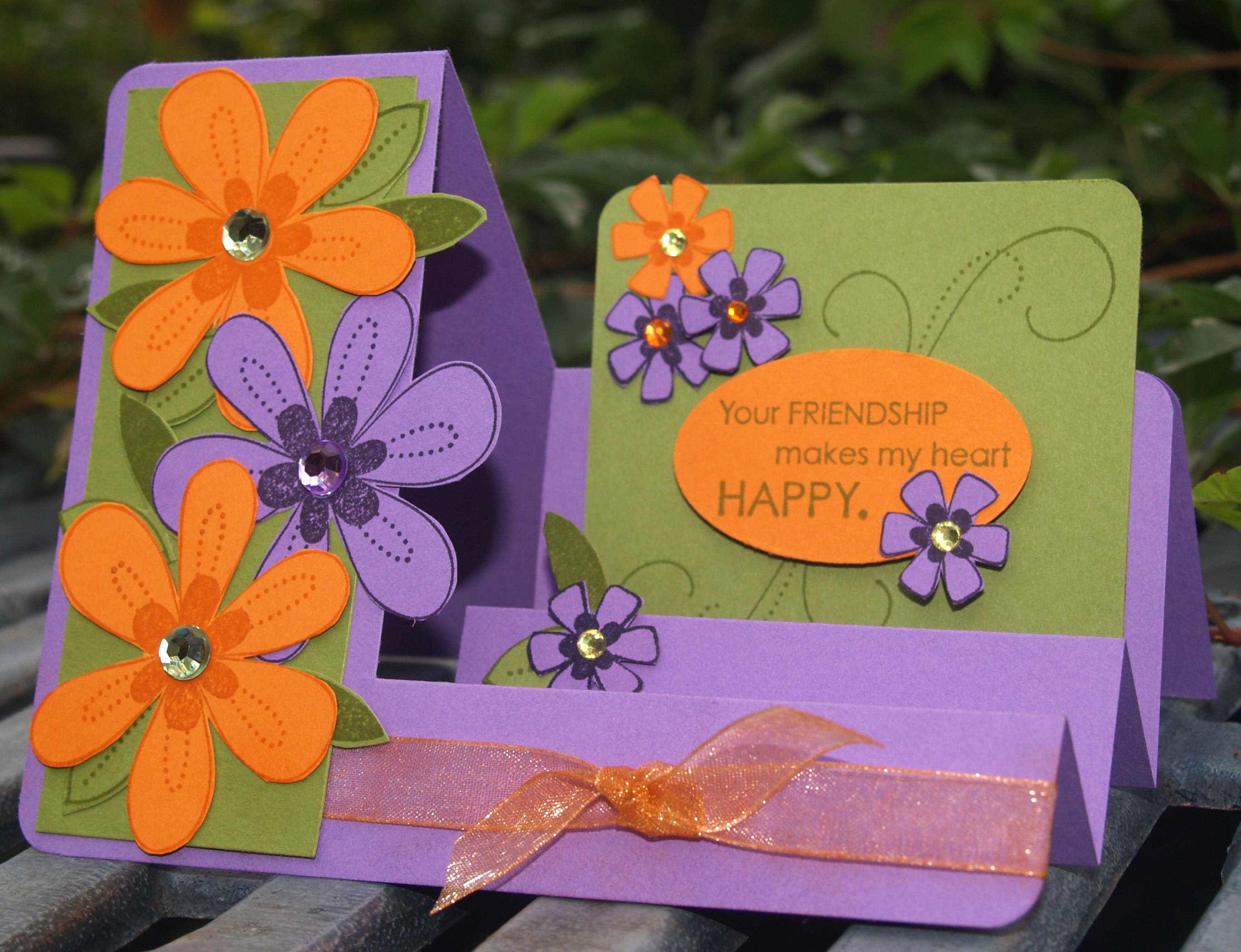Friendship Blooms sidestep card PPA11