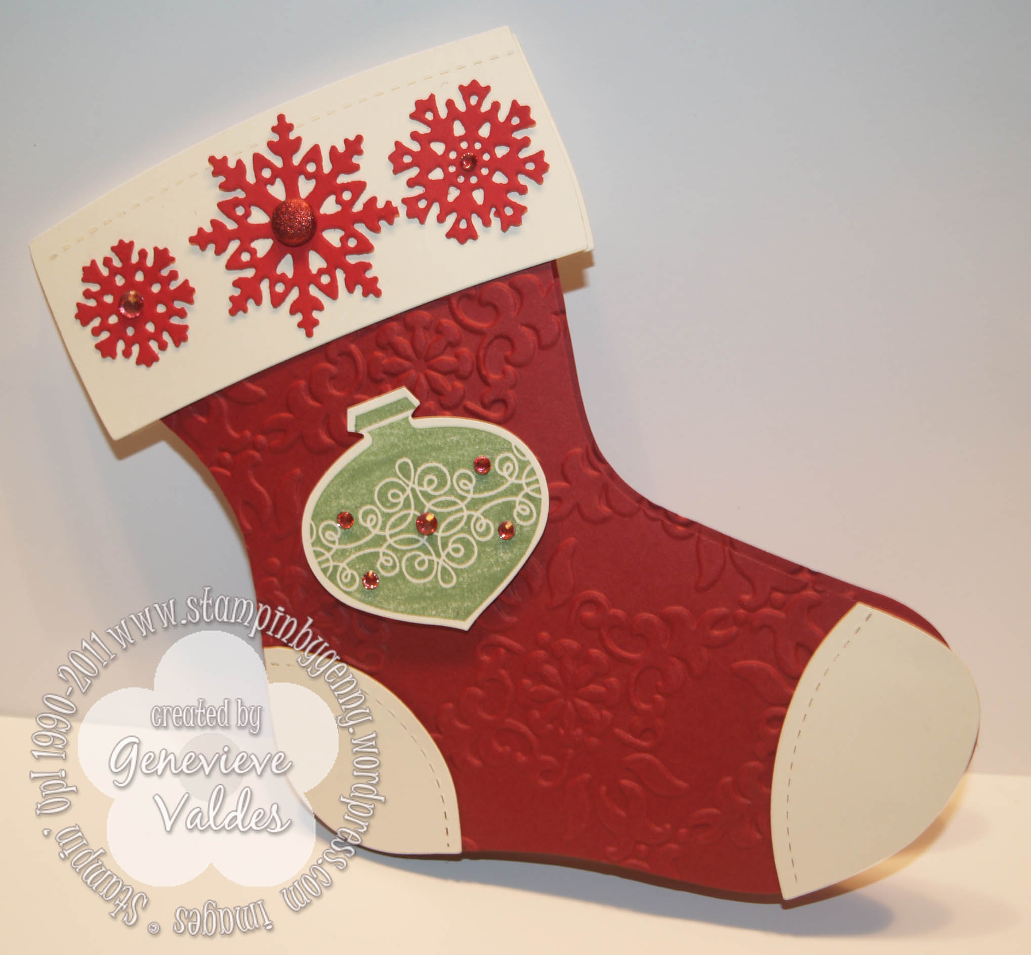 Snowflakes Stampin By Gennys Blog
