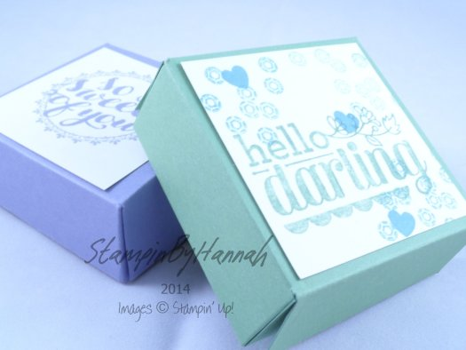 Stampin' Up! UK Chocolate box pizza box style