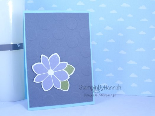 Stampin' Up! UK Petal Potpourri large polka dot embossing