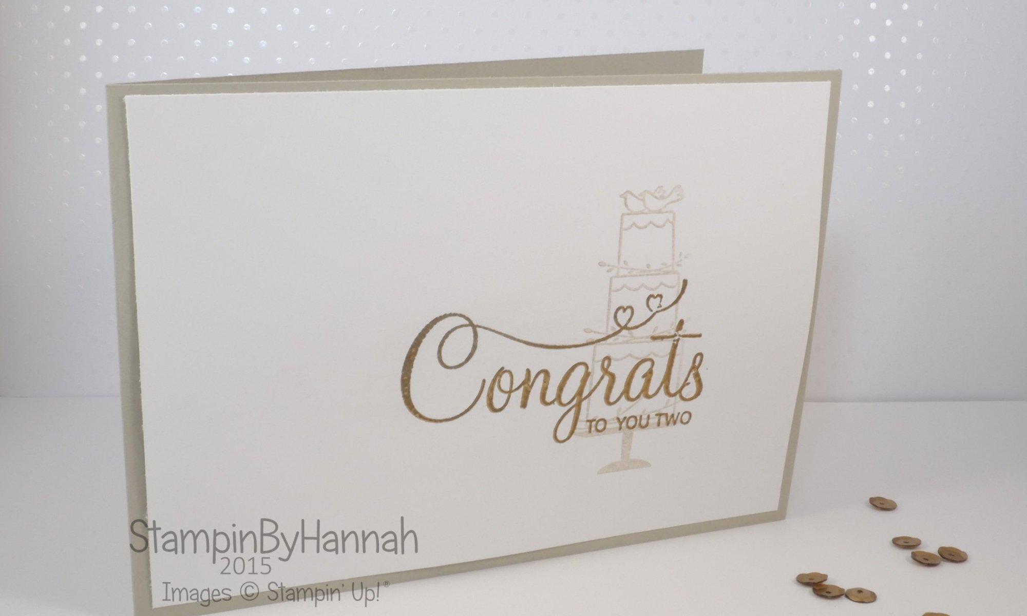 Stampin' Up! UK wedding card