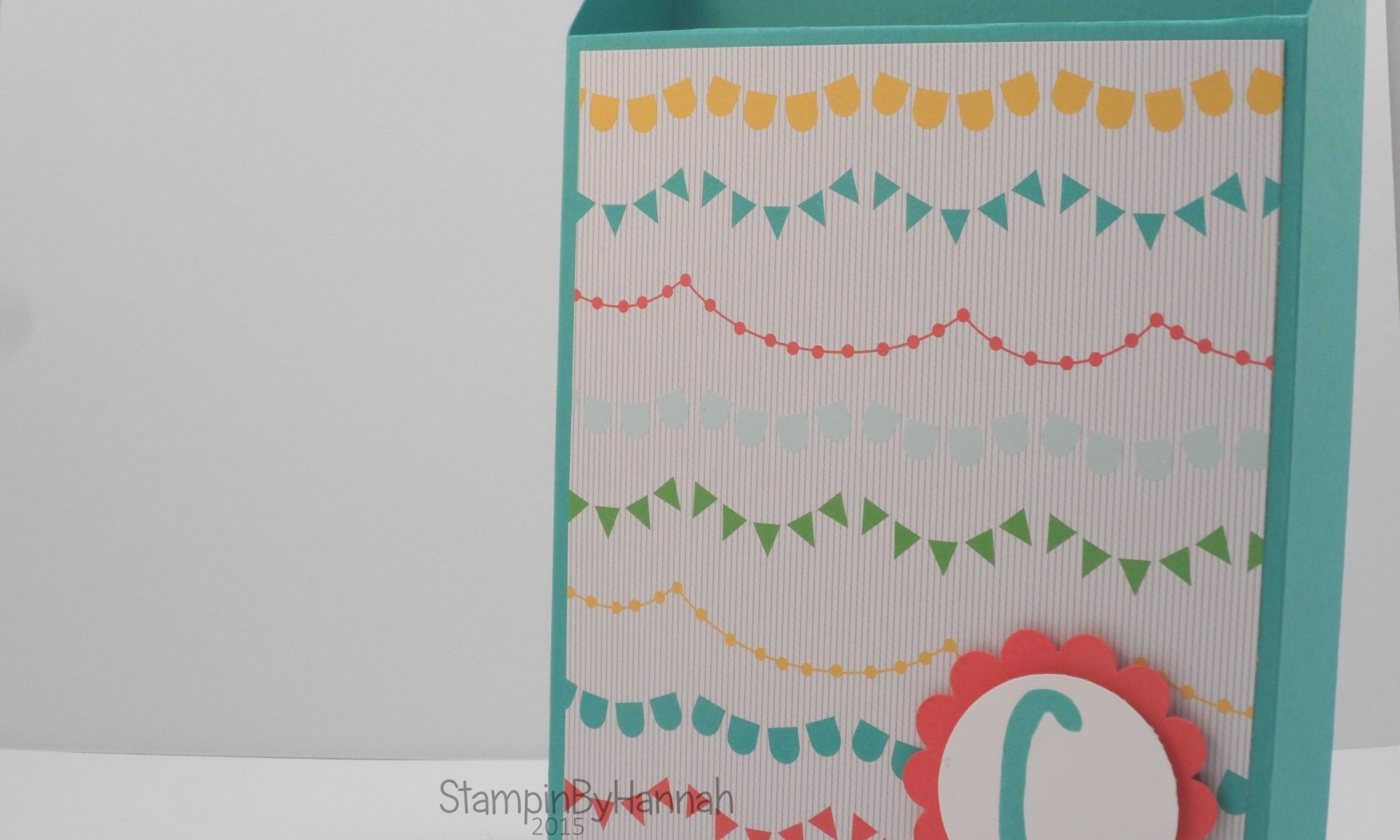 Stampin' Up! UK card storage box cherry on top DSP