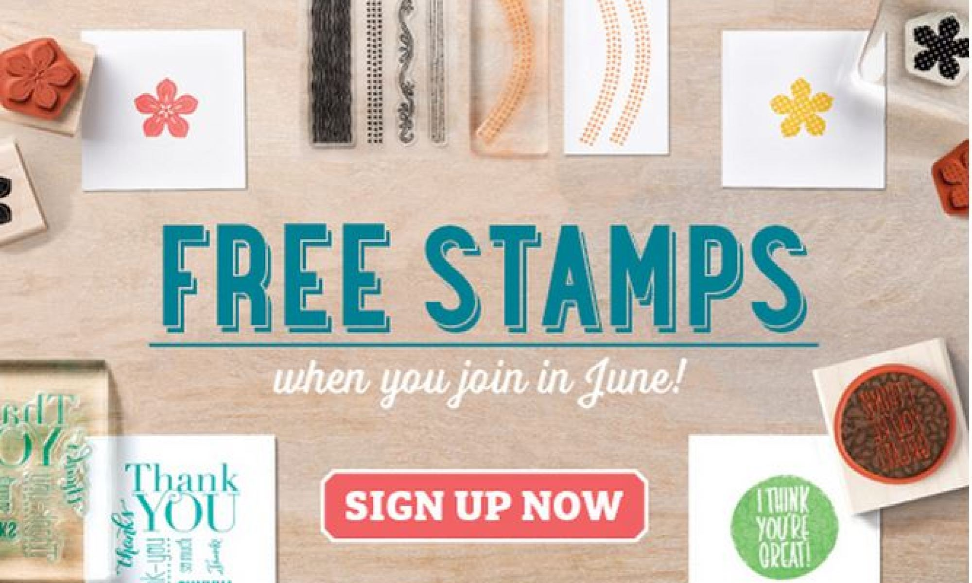 Stampin' Up! UK Free stamps