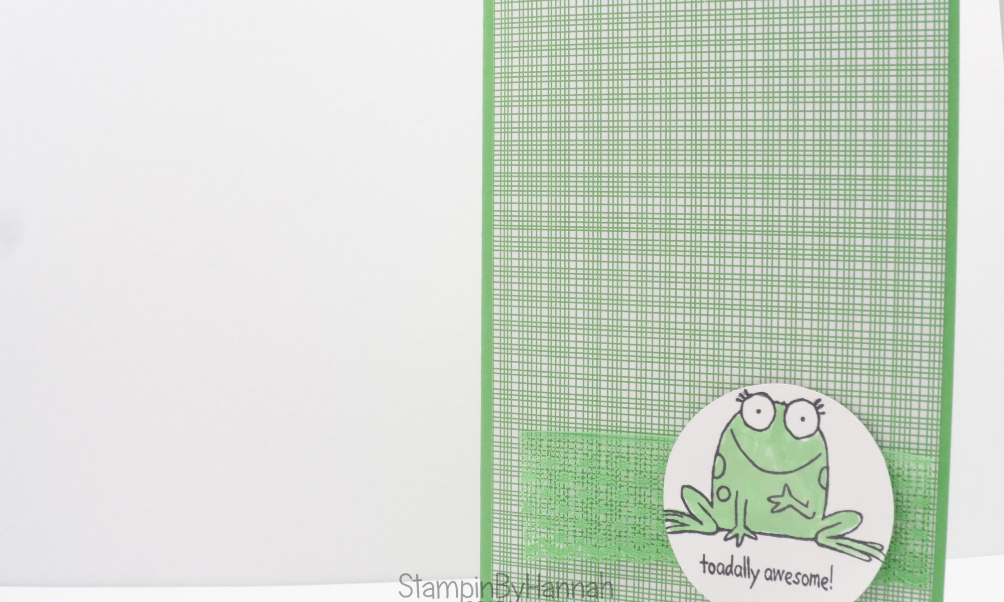 Stampin' Up! UK You're Sublime Cucumber Crush card