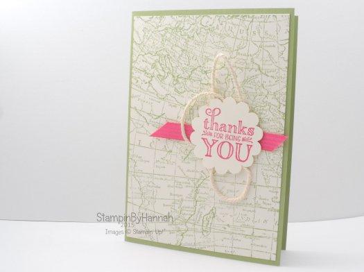 Stampin' Up! UK World Map Me = grateful