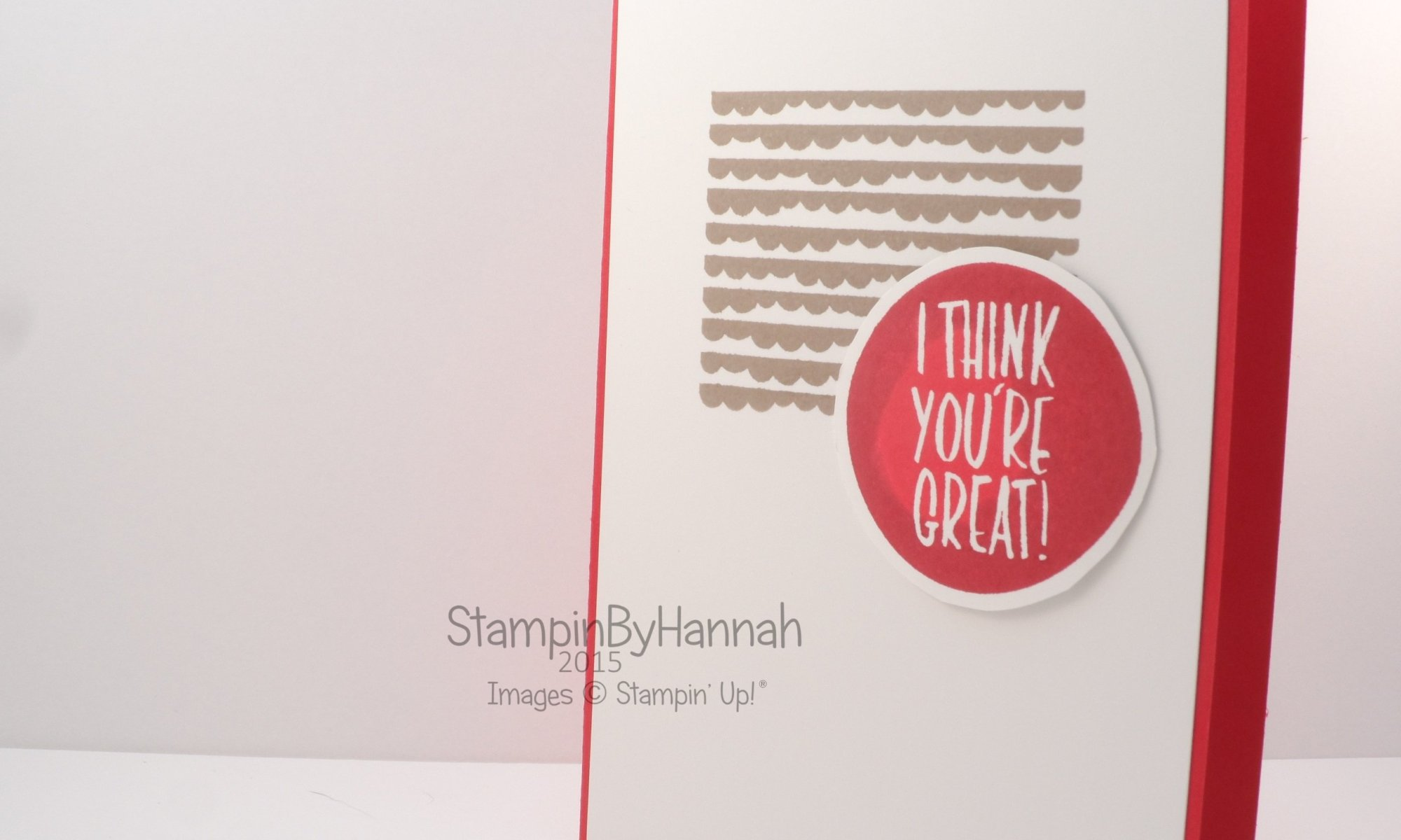 Stampin' Up! UK Video tutorial class workshop