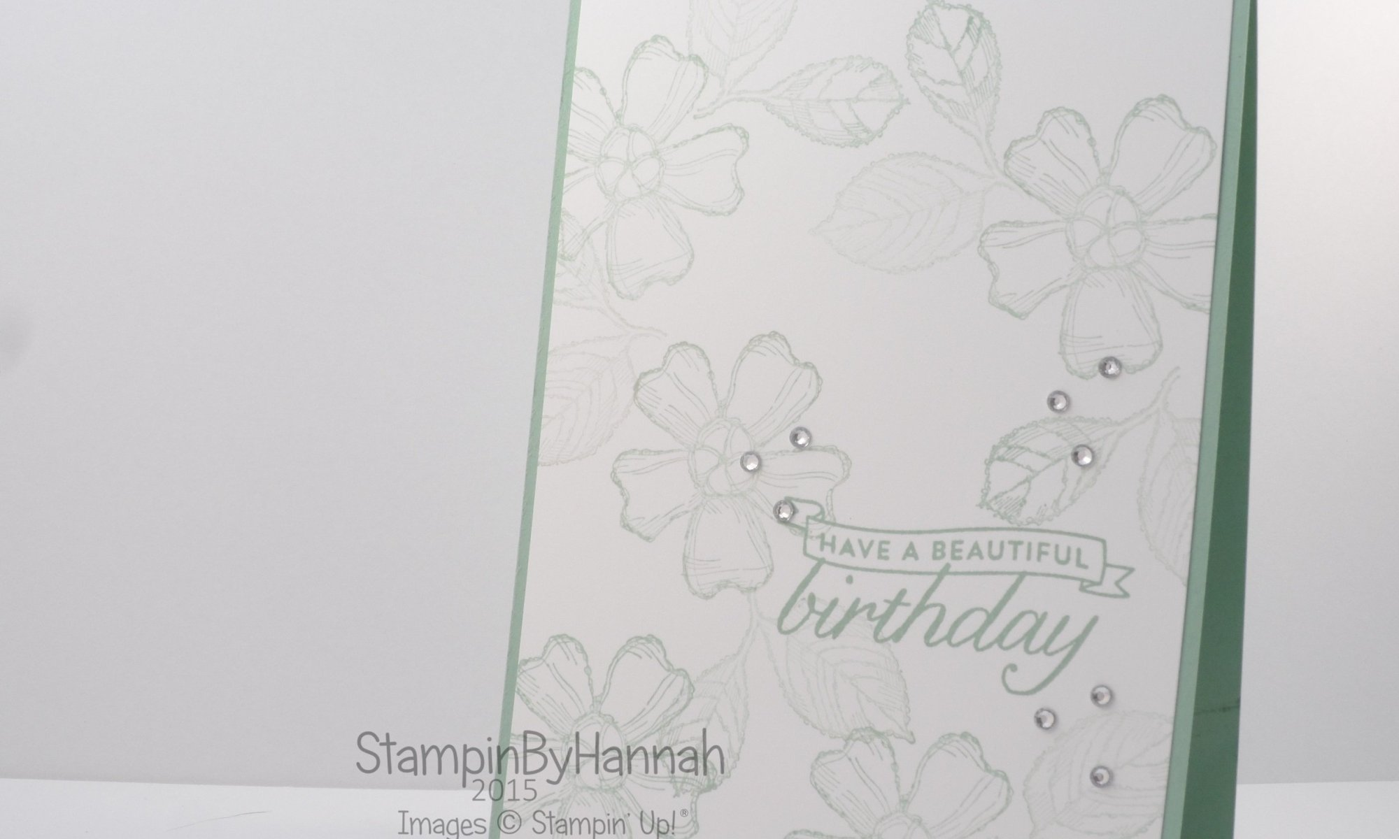 Stampin' Up! UK Birthday Blossoms 2nd Generation Stamping