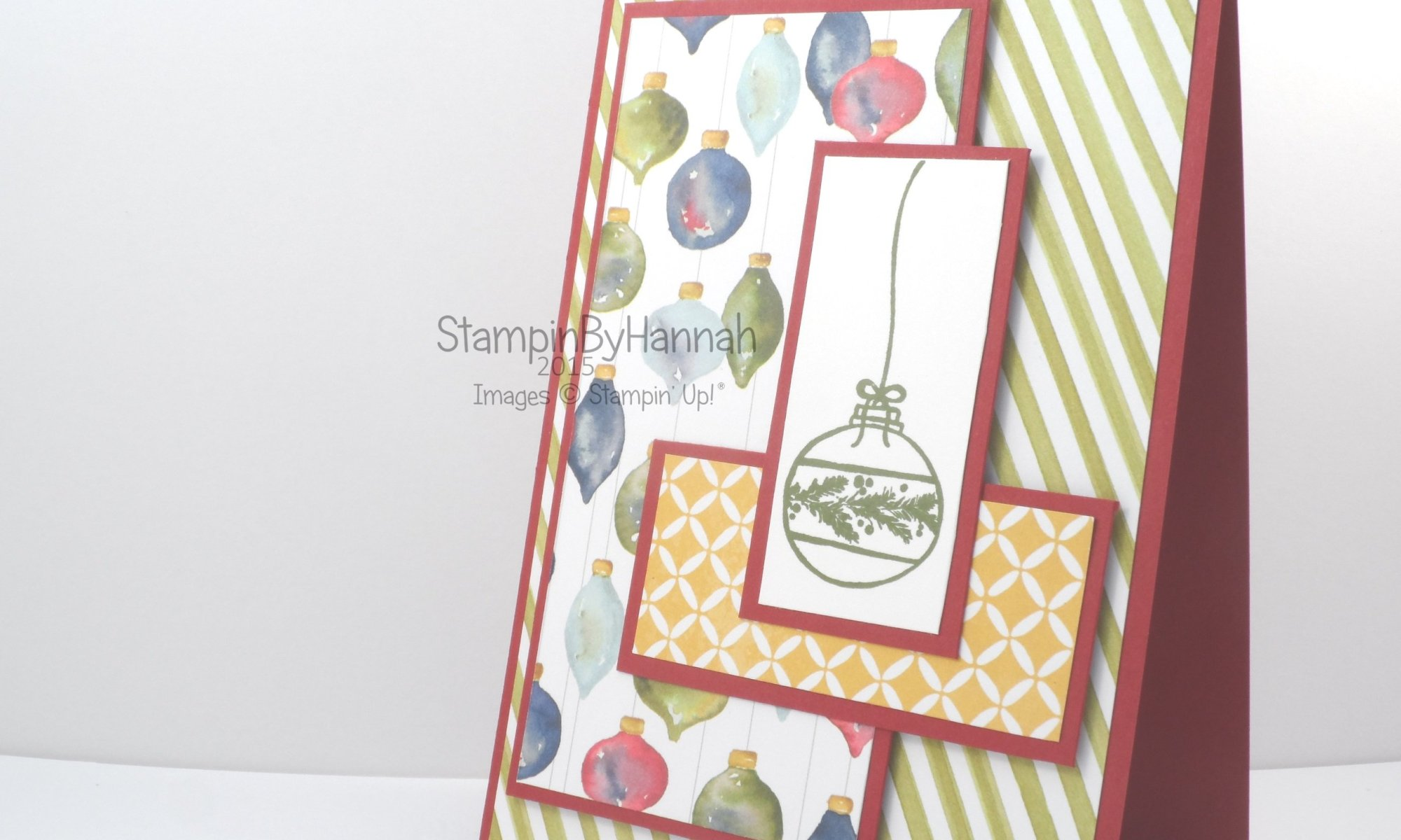 Stampin' Up! Seasons of Cheer Designer Series Paper cardmaking