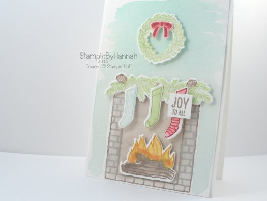 Stampin' Up! UK Festive Fireplace