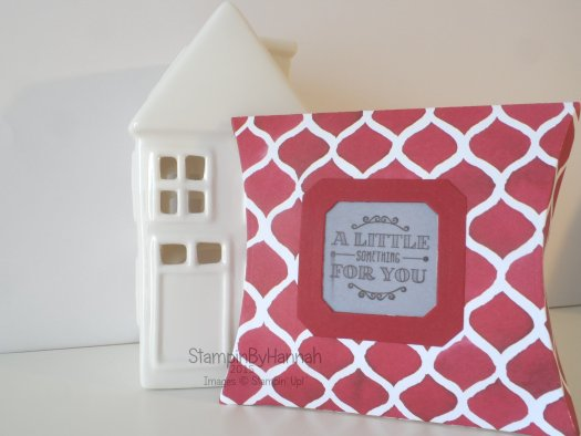 Stampin' Up! UK pillow box designer series paper