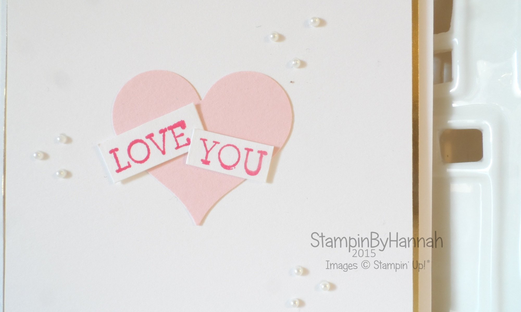 Stampin' Up! UK Valentines card