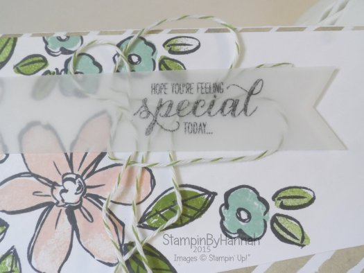 Stampin' Up! UK Floral Birthday card