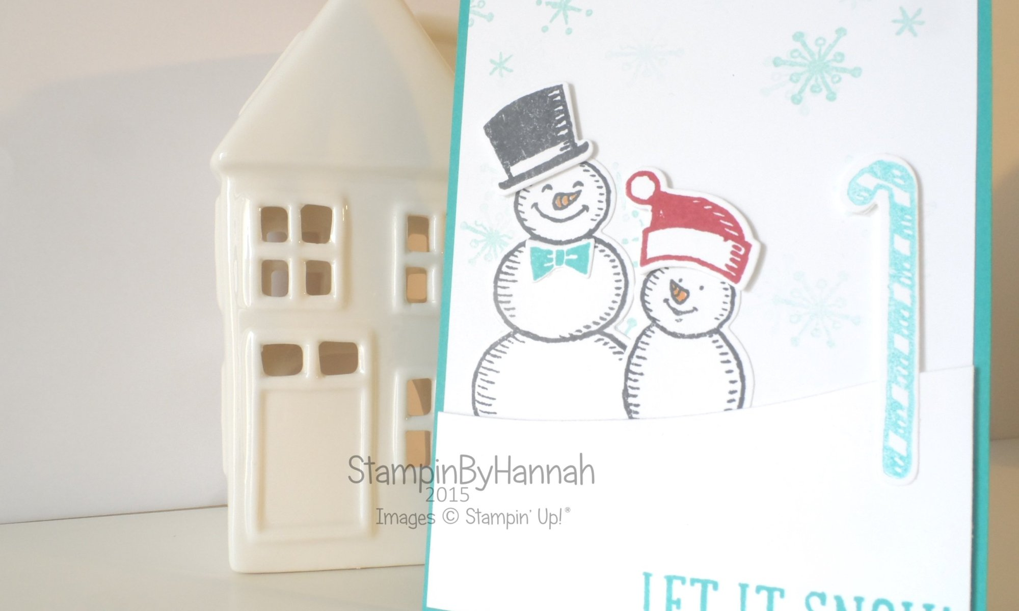 Stampin' Up! UK Snowman card