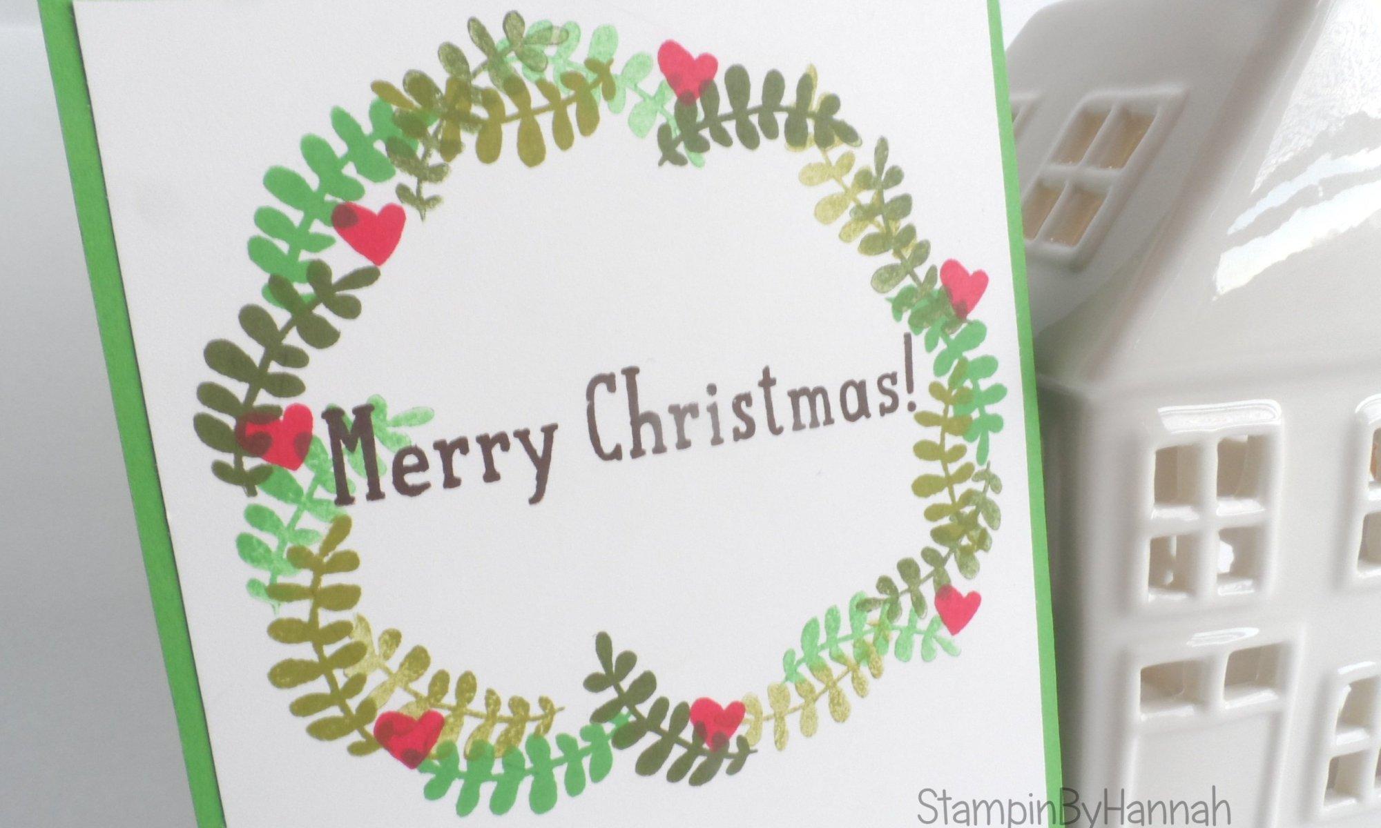 Stampin' Up! UK Christmas wreath