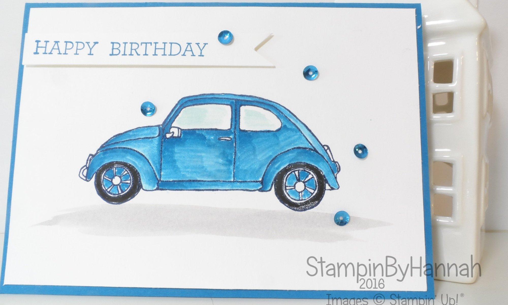 Stampin' Up! UK Beautiful Ride mans birthday card