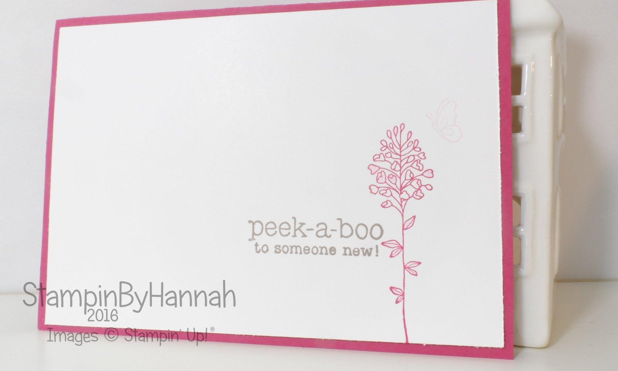 Stampin' Up! UK New baby card