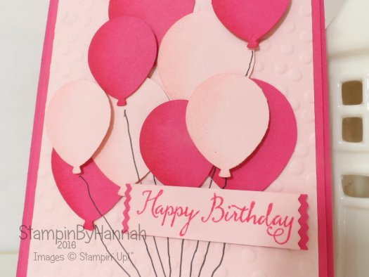 Stampin' Up! UK Balloon Celebration Birthday card