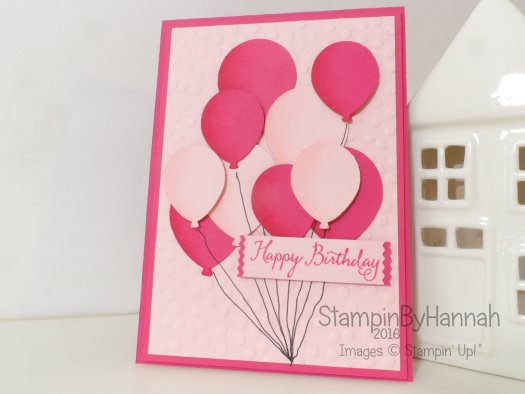 Stampin' Up! UK Balloon birthday card