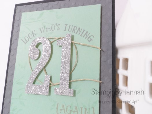 Stampin' Up! UK Number of Years 21 again birthday card