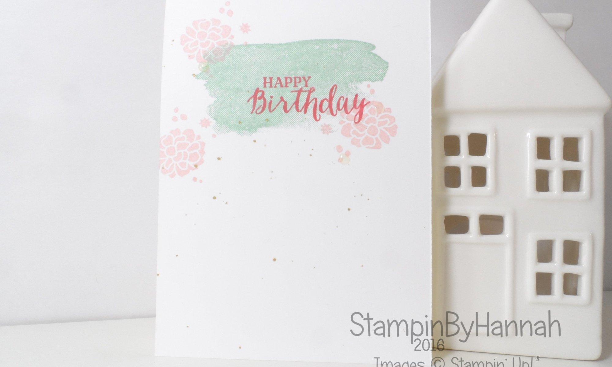 Stampin' Up! UK One Layer Birthday Card