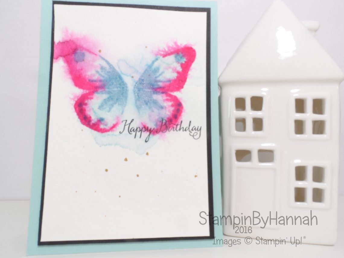 Faux Watercolour technique featuring Watercolour Wings from Stampin' Up! UK