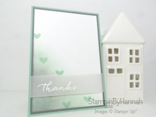Watercolour Wishes Thanks Card using Stampin' Up! products