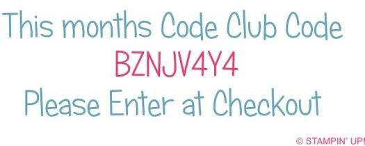 Hostess Code Stampin' Up! UK