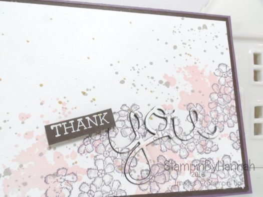 Thank you card featuring Stampin' Up! Uk products