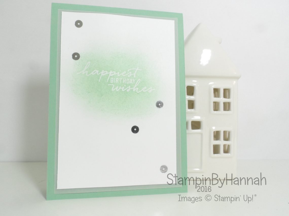 Global Design Project Mint Macaron Watercolour Wishes Card using Stampin' Up! products