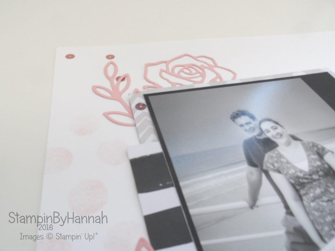 12x12 Scrapbook page Engagement shoot Designer Series Paper Stampin' Up!
