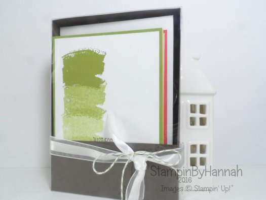 Note card set and box instructions using work of art from Stampin' Up!