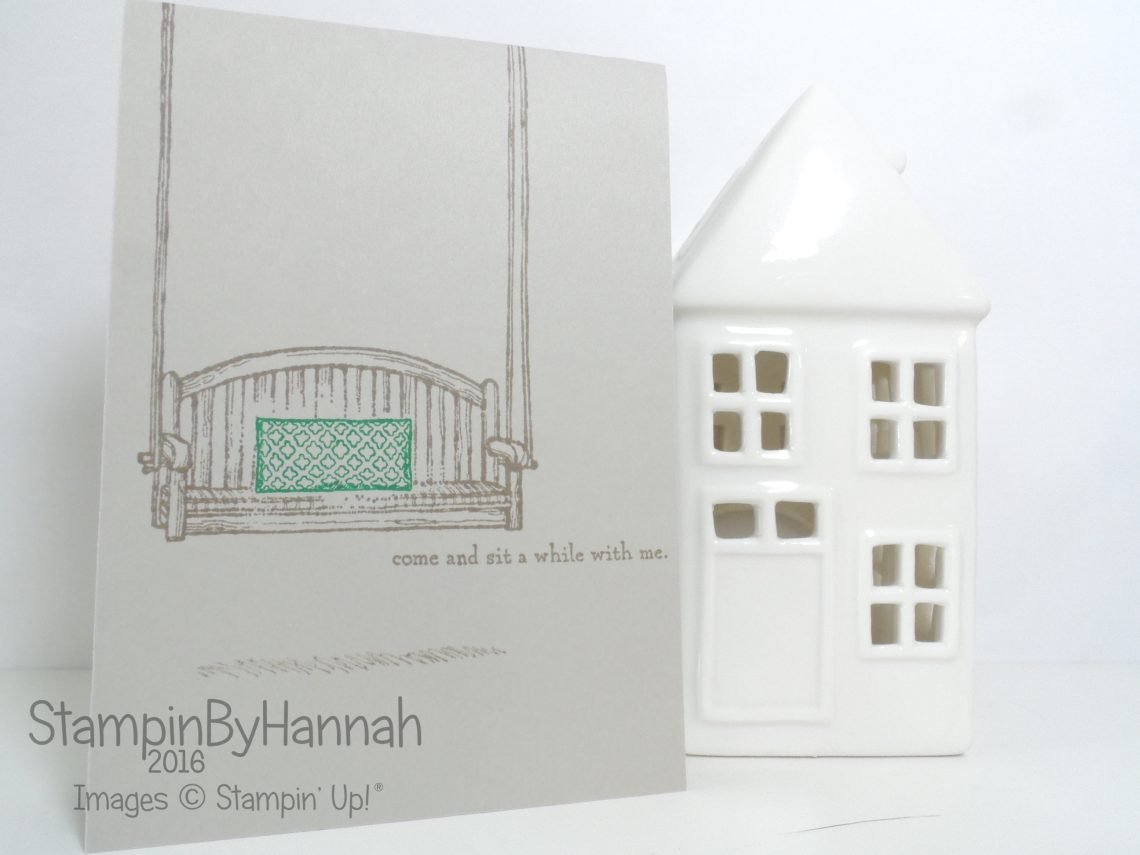 One Layer Card using Sitting Here from Stampin' Up! UK