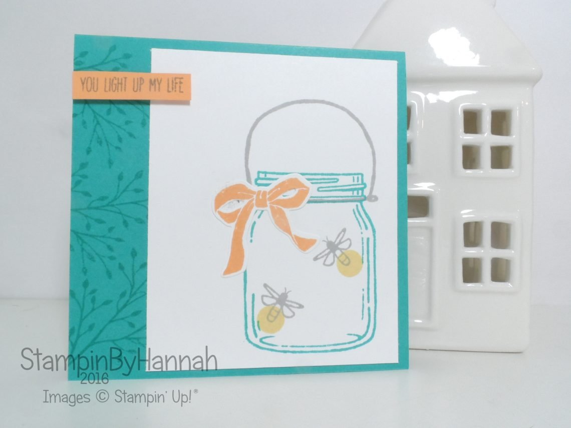 Quick and Easy card using Jar of Love from Stampin' Up! UK