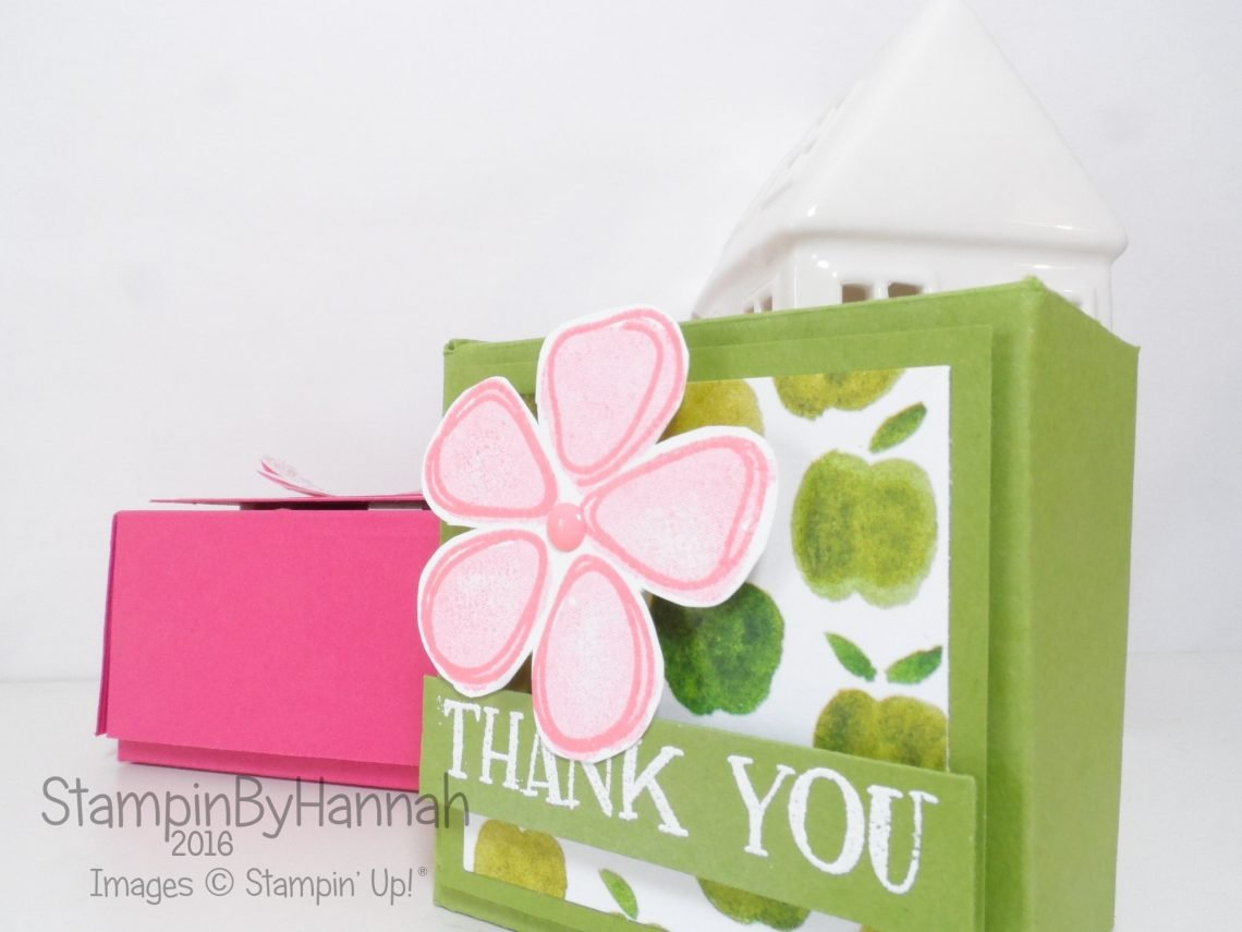 Fresh Fruit Fresh Stand Designer Series Paper Candle Box using Stampin' Up! UK Products