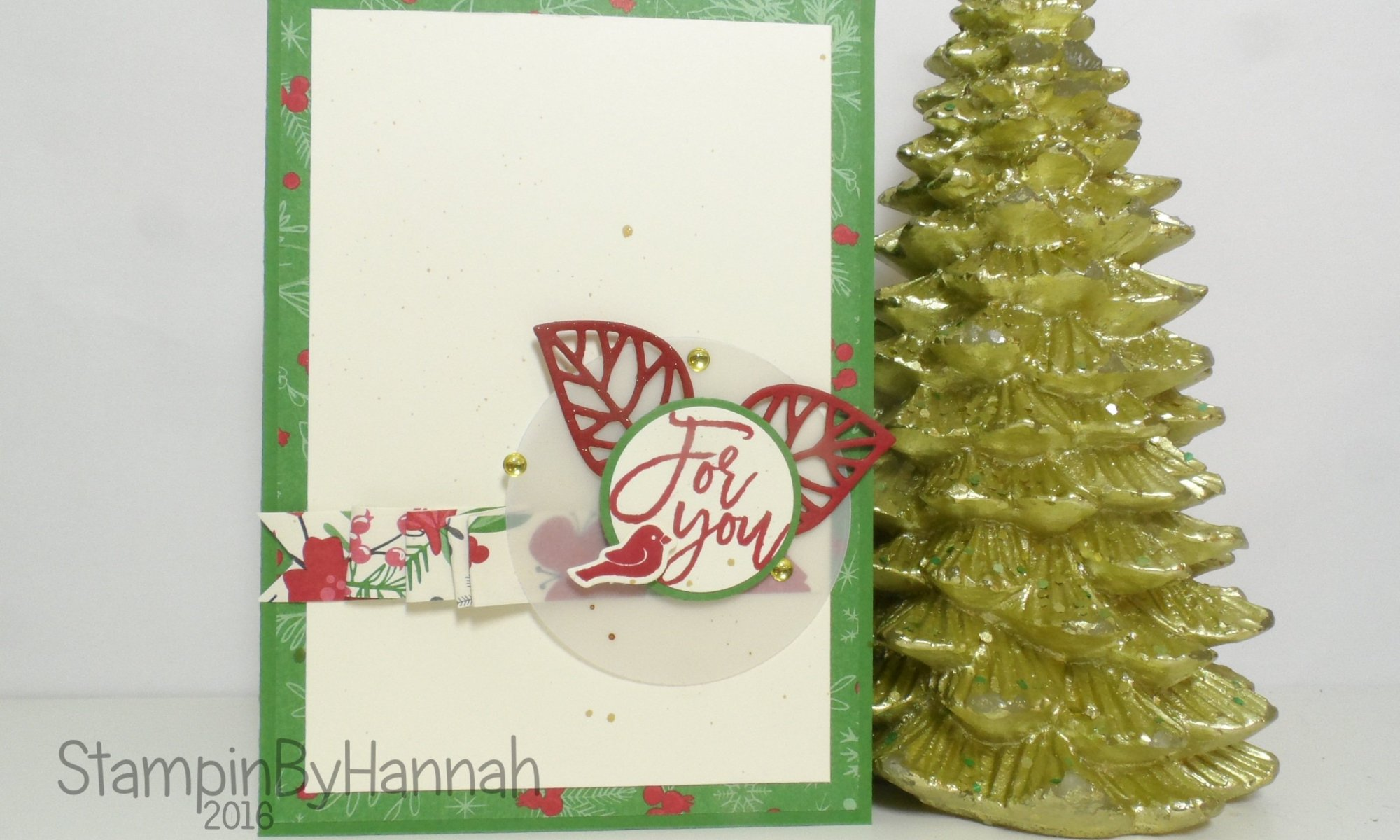 Christmas Card using Thoughtful Branches From Stampin' Up! UK