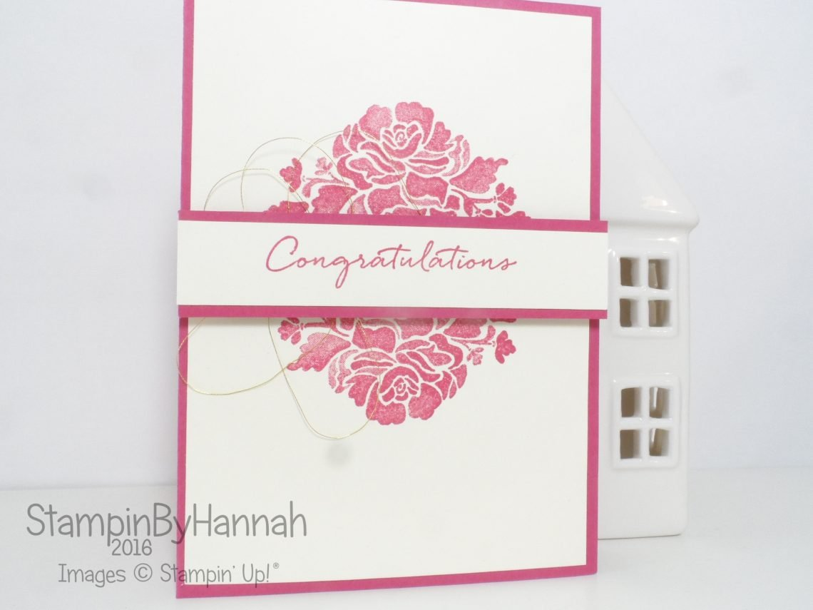 Rose Red Congratulations Card using Floral Phrases from Stampin' Up!
