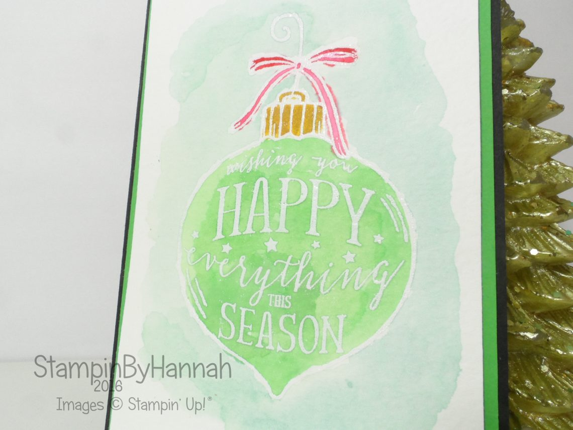 Watercolour Happy Ornament from Stampin' Up! UK