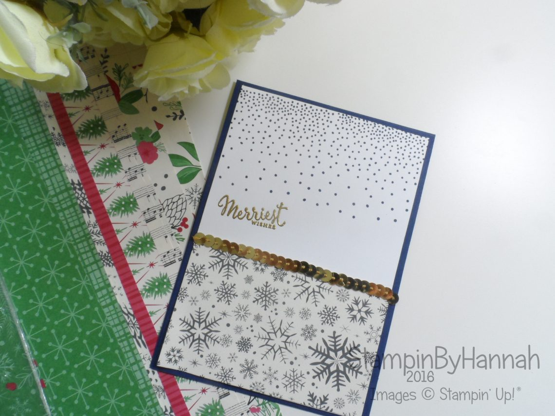 Merriest Wishes Christmas Card using Stampin' Up! UK products