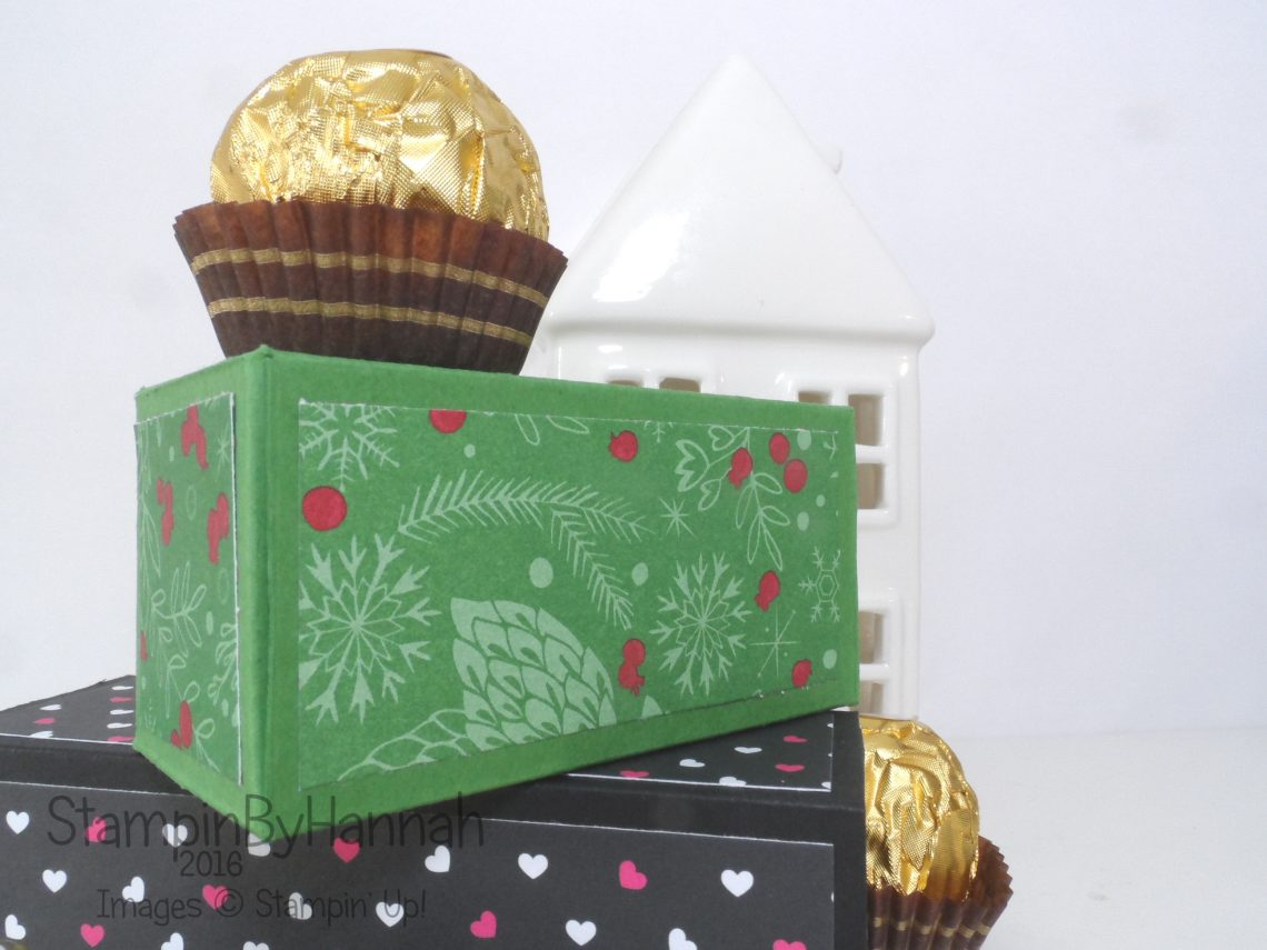 Ferrero Rocher Chocolate box using Stampin' Up! UK Products for Make It Monday